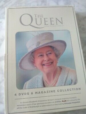 The Queen 4 DVDs and Magazine Collection - new and sealed