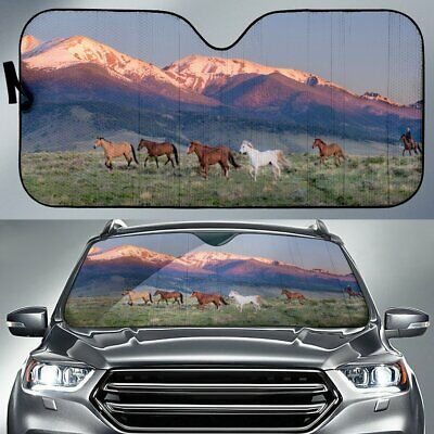 Horse Trot Horse Sunshade for Car Windshield