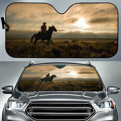 Home on the Range Horse Sunshade for Car Windshield