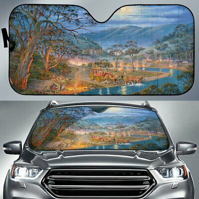 The River Crossing Horse Sunshade for Car Windshield