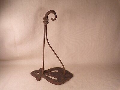 Antique Ornate Cast Iron Plant Hanger Wall Hook Garden Lamp Lantern