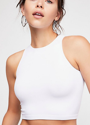 NEW Free People Intimately High Neck Seamless Top in Black XS//S-M//L 26.20