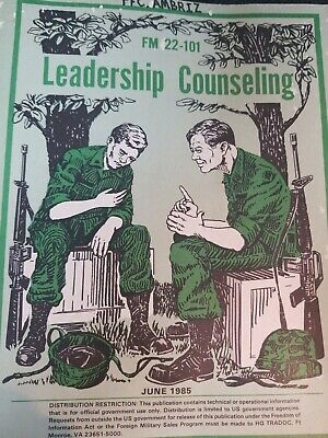 Book US Army FM 22-101 Training Tech Field LEADERSHIP COUNSELING 1985 #2