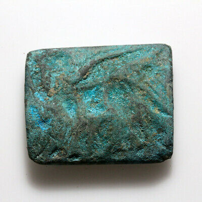Circa 500-300 Bc As Found-Unclean Near East Bronze Double Sided Bead Seal