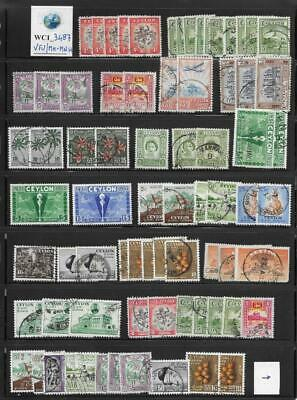 WC1_3487 BRITISH COLONIES. CEYLON. Dealer stock of 1949-1972 stamps. MH-MNH/Used
