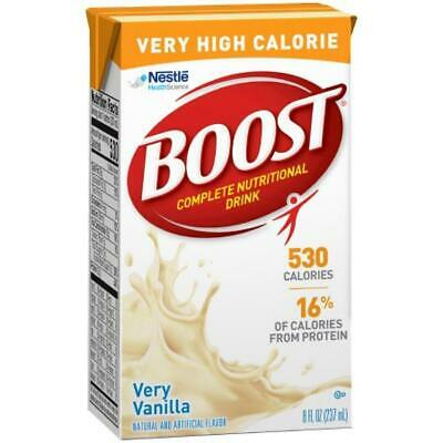Boost VHC Very High Calorie Complete Nutritional Drink 8oz Very Vanilla, 27-Pack