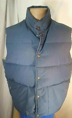 Vintage Penfield Trailwear Blue Button Down Vest, XL Usa Made