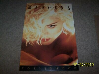 """Vintage MADONNA 1990 Giant Poster Book with 8 Posters 16-1/2 X 11-1/2"""" VG Cond."""