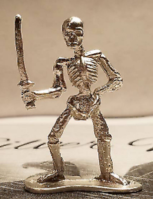Skeleton pirate hand cast in .999 pure silver 19 to 21 grams each