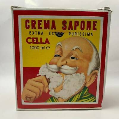 Cella Almond Shave Soap Cream - Large 1000g Size - (Pre-Owned)