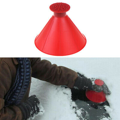 Car Windshield Ice Scraper Tool Red Cone Shaped Round Funnel Remove Snow Kit UQ