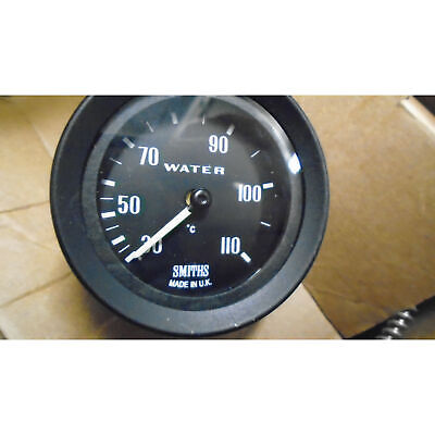 *MARKED* Smiths Classic Mechanical Water Temperature Gauge Black Bezel And Face