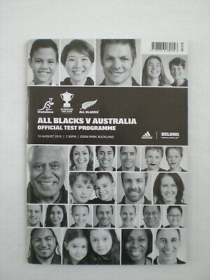 New Zealand All Blacks vs. Australia - August 15, 2015 Rugby Programme