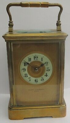 SUPERB ANTIQUE FRENCH 8 DAY STRIKING MANTEL/CARRIAGE CLOCK  c.1900