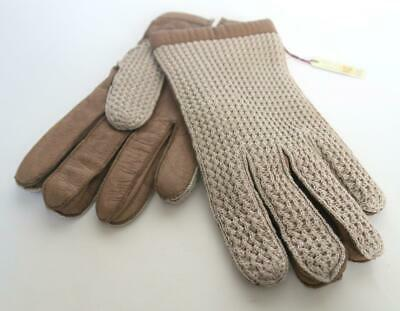 Vintage Unworn Mens Dents Classic Leather & Crochet Driving Gloves Size 9.5