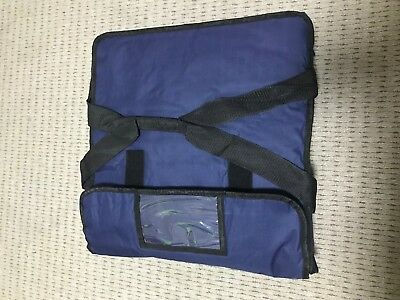 "PIZZA / TAKEAWAY DELIVERY BAG 17""x17""x6"" BLUE EXTRA WARM WITH SUPER INSULATION"
