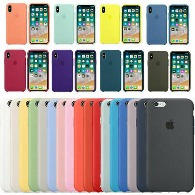Hard Silicone Phone Cover Case for Apple iPhone X XR XS Max 8 7 Original Genuine
