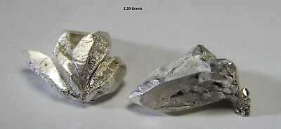 5 grams LOT of .999 Crystalline Silver Crystal Nuggets Shards 999 Not Scrap