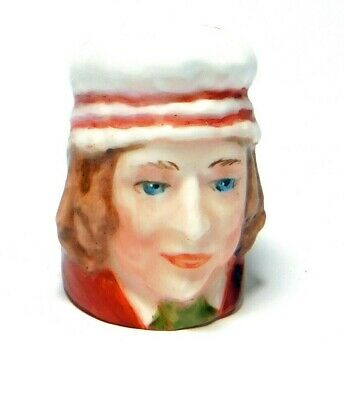 1984 Handpainted Character Head Thimble Mrs Squeers Dickens Collection