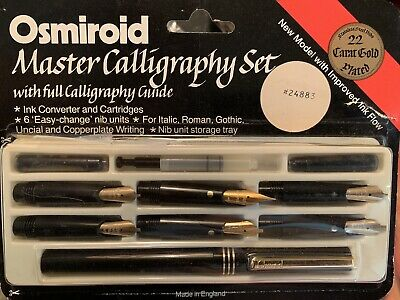 Vintage Osmiroid 22K Gold Plated Master Calligraphy Set Pen New