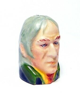 1989 Handpainted Character Head Thimble Magwiton Dickens Collection