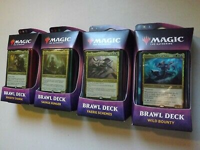 NEW MTG Throne of Eldraine Brawl Deck: Set of 4 Sealed! LOT Magic the Gathering