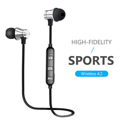 bluetooth 4.2 headset earphone wireless stereo magnetic earbuds for all phone 0