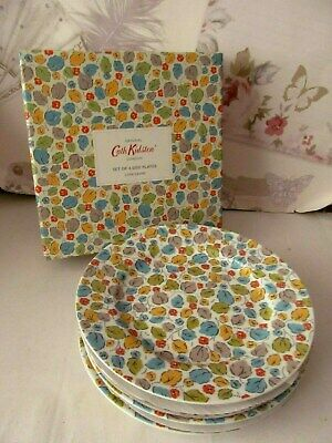Cath Kidston Little Leaves plates Set of 4 Side Plates - New, Boxed