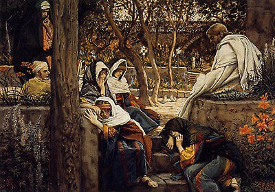 James Jacques-Joseph Tissot Jesus At Bethany Artist Painting Handmade Oil Canvas