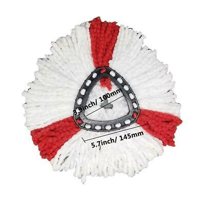 Triangular Rotating Mop Replacement Head Cotton Yarn Head Microfiber Mop Refill