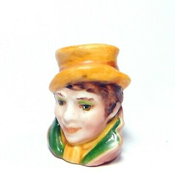 1989 Handpainted Character Head Thimble Artful Dodger  Dickens Collection