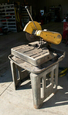 EVERETT Industrial Cutoff Chop Saw Material Cutting machine Table and Stand inc
