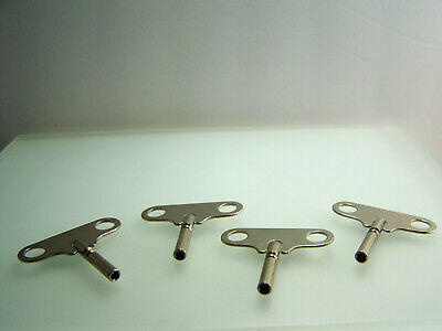 Lot of 4 Vintage Antique Clock Winding Keys Un Numbered