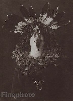 1900/72 Edward Curtis Native American Indian Navaho Feather Costume Photogravure