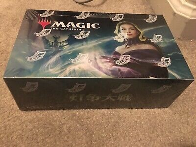 1x Japanese War Of The Spark Booster Box MTG WAR -- Factory Sealed MT/NM