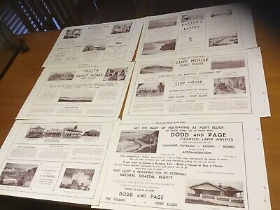 Rare old Port Pirie SA  adverts  x 6 1930s advertising collection