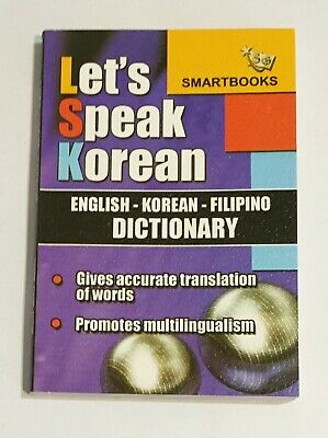 Let's Speak Korean English Korean Filipino Dictionary Translation Book Tagalog