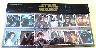GB 2015 STAR WARS PRESENTATION PACK No 518 MINT STAMP SET SG3758-69 #518 UNUSED