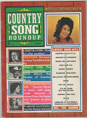 Jan 1969 Country Song Roundup Magazine Loretta Lynn, Ernest Tubb Kitty Wells