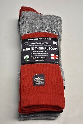 3-6-12 Pair Neuropathy Circulatory Diabetic Thermal Crew Socks 9-11 10-13 13-15