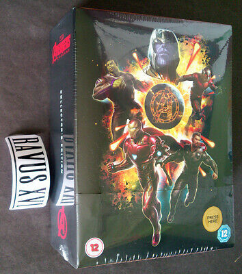 AVENGERS Endgame 3D & 2D Blu-Ray Collector's Edition Steelbook UK REGION-FREE