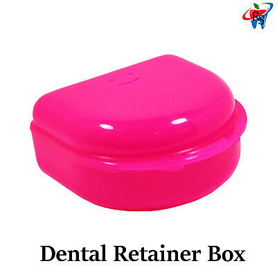 Dental Orthodontic Denture Storage Case Retainer Box Mouth guard Container
