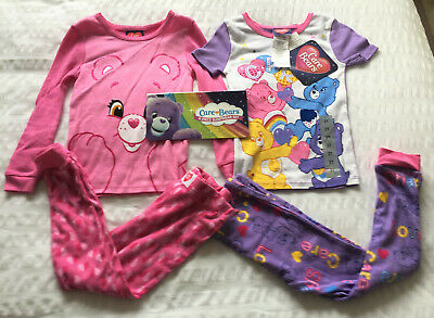 Girls Care Bears 4 Piece Sleepwear set Pyjama Set Age 3