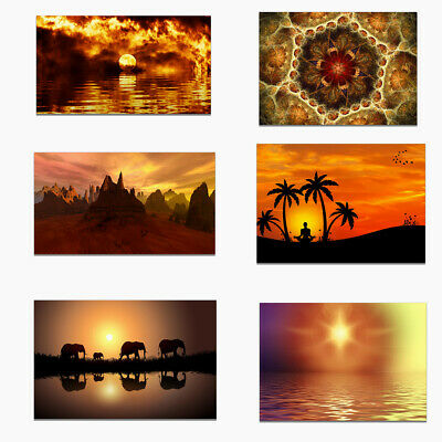 Sunrise Sunset Printing Poster Canvas  Corridor Bedroom Wall Hangings Home Decor