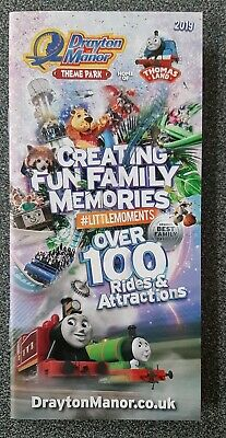 Thomas Land / Drayton Manor Theme Park 2019 Promo Flyer / Leaflet Tank Engine