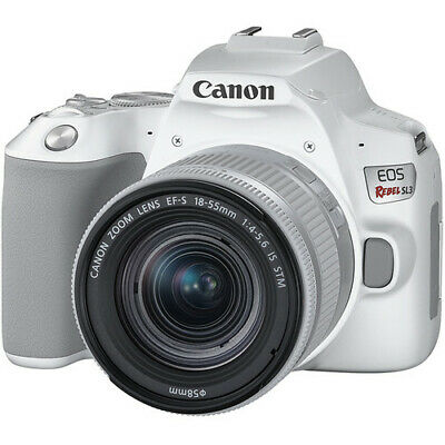 Canon EOS Rebel SL3 with 18-55mm IS STM DSLR Camera Kit (White) 3457C001