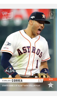 2019 TOPPS NOW ALDS CARD HOUSTON ASTROS CARLOS CORREA #964 STARTS GAME 2 w/ PLAY