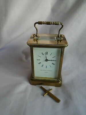 Vintage Matthew Norman (4) 8 Day Timepiece Carriage Clock In Good Working Order