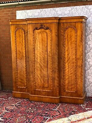 outstanding quailty victorian triple wardrobe mahogany superb condition original
