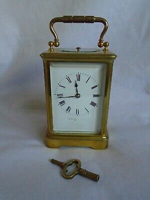 Antique 1880 Stunning Margaine  Repeater Carriage Clock + Key In Gwo